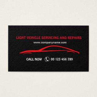 Tarjeta de visita para los servicios autos