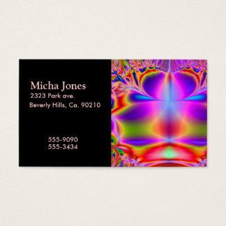 Tarjeta De Visita Para siempre fractal del color