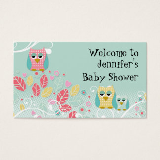 Tarjeta De Visita Pared linda caprichosa del nombre del bebé de los
