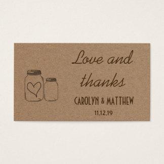Tarjeta De Visita Parte movible rústico del amor y de las gracias