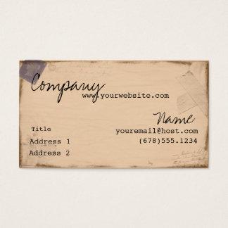 Tarjeta De Visita Pasaporte del vintage