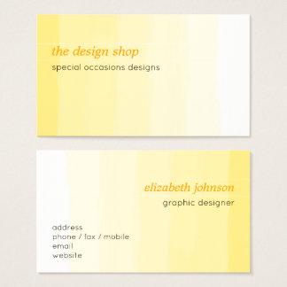 Tarjeta De Visita Pastel amarillo simple elegante llano de la
