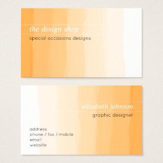 Tarjeta De Visita Pastel anaranjado simple elegante llano de la