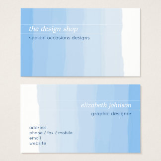 Tarjeta De Visita Pastel azul simple elegante llano de la acuarela