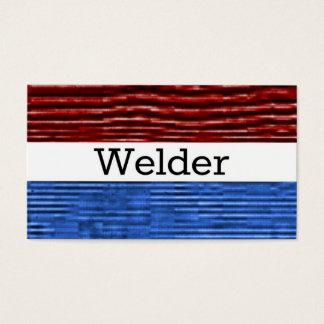 Tarjeta de visita patriótica del soldador