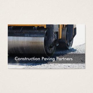 Tarjeta De Visita Pavimentación de la construcción