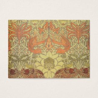 Tarjeta De Visita Pavo real de William Morris y modelo del dragón