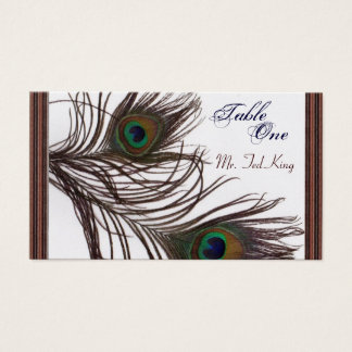 Tarjeta De Visita Pavo real Placecards
