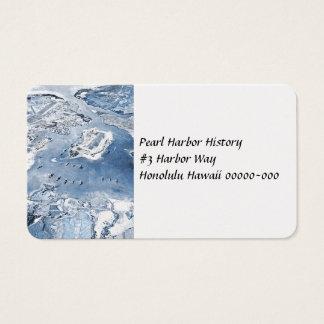 Tarjeta De Visita Pearl Harbor de arriba en dirección Sur de la