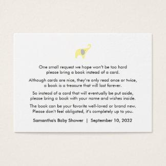 Tarjeta De Visita Pedido gris amarillo/libros del libro del elefante
