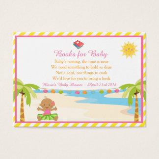 Tarjeta De Visita Pedido tropical del libro del chica de Hula la