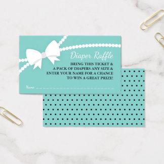 Tarjeta De Visita Pequeña señora Diaper Raffle Ticket