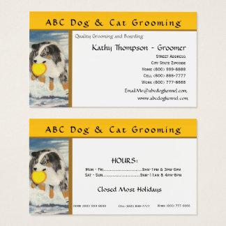 Tarjeta De Visita Perro australiano del disco volador del pastor