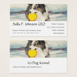 Tarjeta De Visita Perro australiano del disco volador del pastor en