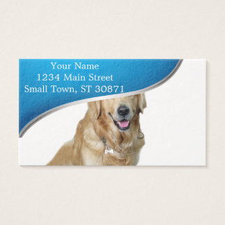 Tarjeta De Visita Perro-mascota de Labrador navidad-santa Claus