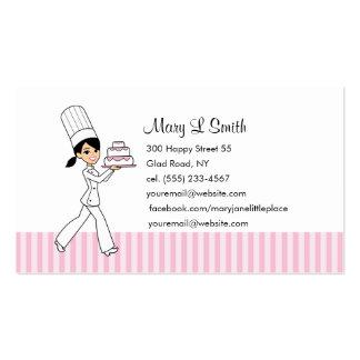 Tarjeta de visita personal del chef de repostería