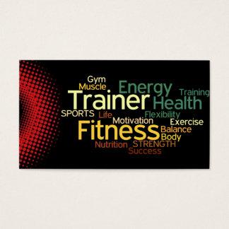 Tarjeta de visita personal del instructor