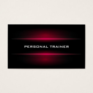 Tarjeta de visita personal elegante del instructor