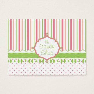 Tarjeta De Visita Personalizado de la tienda del caramelo rechoncho