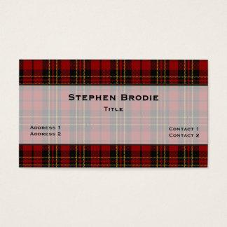 Tarjeta De Visita Personalizado elegante de la tela escocesa de