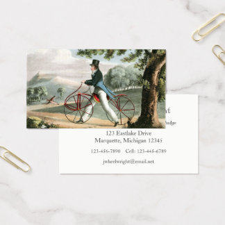 Tarjeta De Visita Personalizado peatonal de la bicicleta del vintage