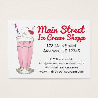 Tarjeta De Visita Personalizado rosado del Milkshake de la sacudida