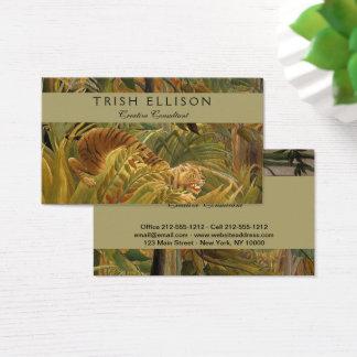 Tarjeta De Visita Personalizado tropical de la impresión del arte