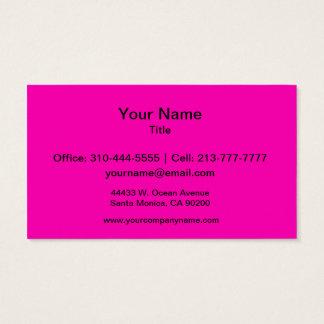 Tarjeta De Visita Personalizar rosado de neón del color sólido él