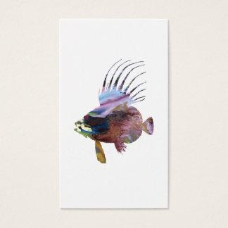 Tarjeta De Visita Pescados del Dory - arte colorido de los pescados