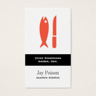 Tarjeta De Visita Pescados y cuchillo