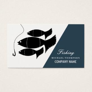 Tarjeta De Visita Pescados y gancho modernos, pescando