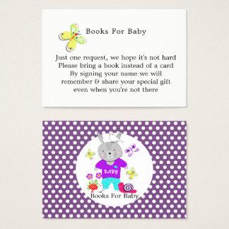 Tarjeta De Visita Petición linda del libro del bebé del conejo de