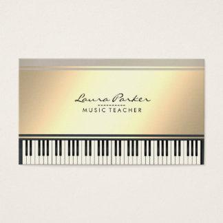 Tarjeta De Visita Pianista del músico del teclado de piano del