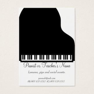 Tarjeta De Visita Piano blanco negro profesional moderno clásico