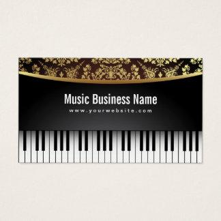 Tarjeta De Visita Piano realista de lujo del profesor de música