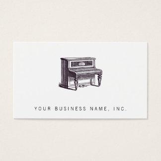 Tarjeta De Visita Piano vertical del vintage