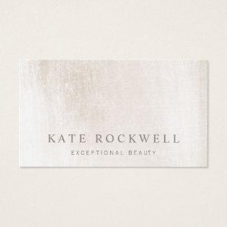 Tarjeta De Visita Piedra blanca de marfil minimalista elegante