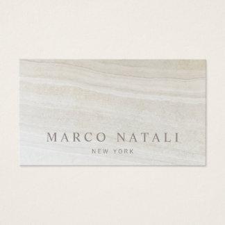 Tarjeta De Visita Piedra de mármol beige elegante simple