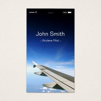 Tarjeta De Visita Piloto del aeroplano - estilo plano adaptable de