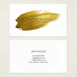 Tarjeta de visita - pincelada del oro