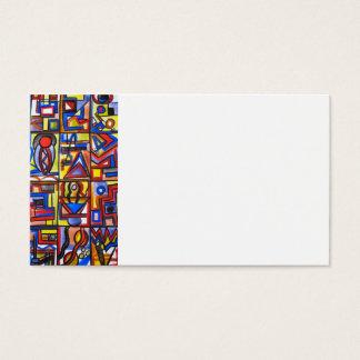 Tarjeta De Visita Pintado a mano geométrico del arte Dos-Moderno