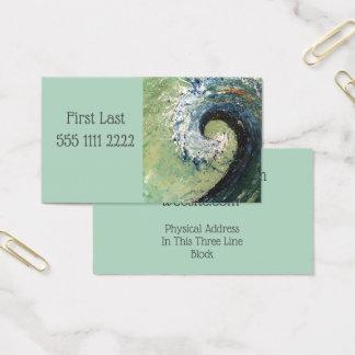 Tarjeta De Visita Pintura abstracta de la bella arte de la onda de