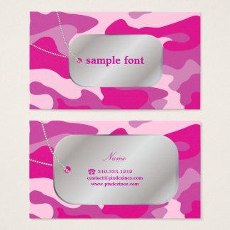 Tarjeta De Visita PixDezines Camo rosado descarado+Placas de