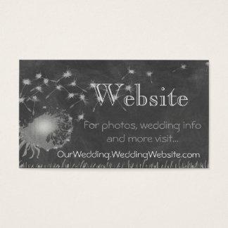 Tarjeta De Visita Pizarra de la información del Web site del boda