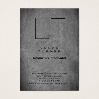 Tarjeta De Visita Pizarra moderna profesional del gris del monograma