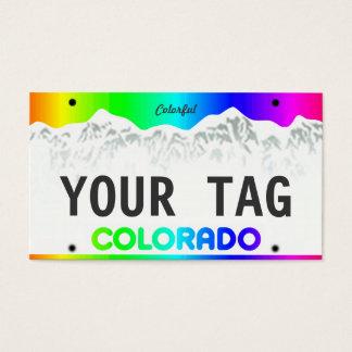 Tarjeta De Visita Placa de encargo de Colorado - edición colorida