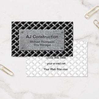 Tarjeta De Visita Placa de metal profesional de la construcción