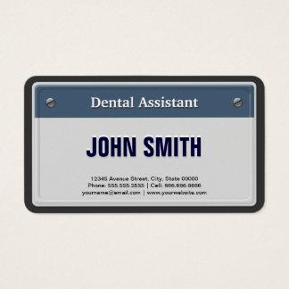 Tarjeta De Visita Placa fresca del coche del ayudante de dentista