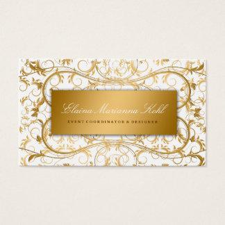Tarjeta De Visita Placer blanco divino de oro 311