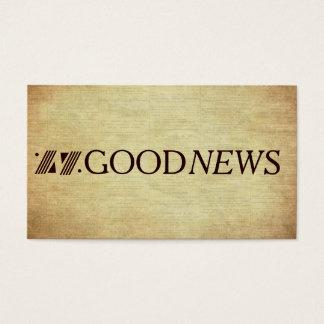 Tarjeta De Visita Plan de la zona del evangelio de las buenas